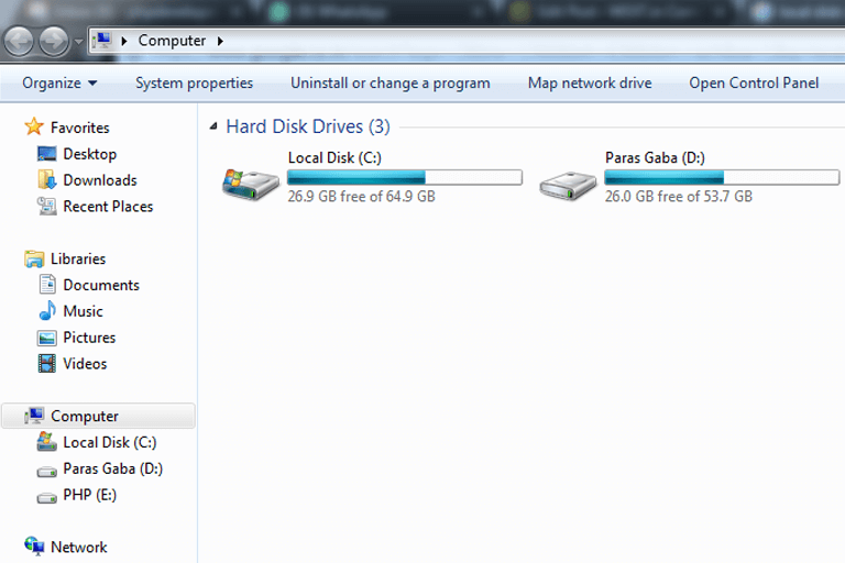how to s drive as the local disk