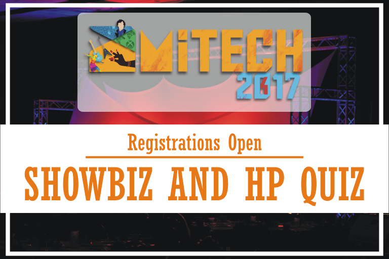 SHOWBIZ and HP Quiz at AMITECH'17, AMITY University