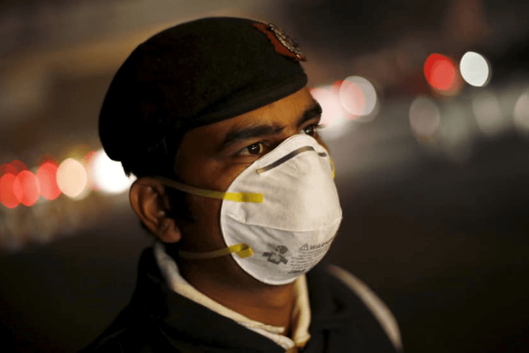 AIMS launched air pollution protection device especially for Delhiites