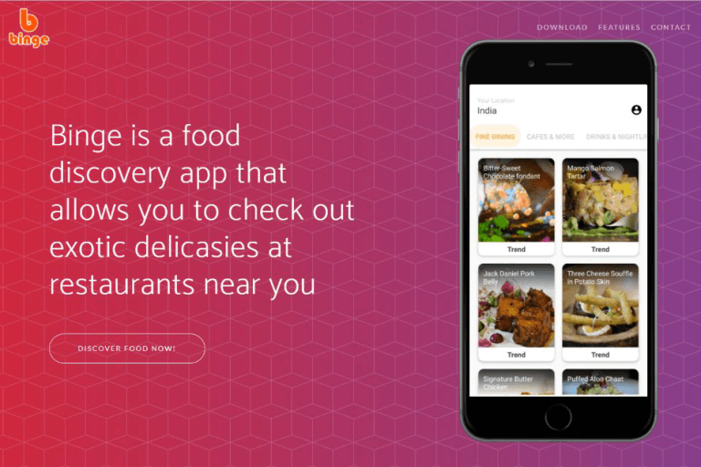 Introducing Binge : Food Discovery and Pre-ordering Platform